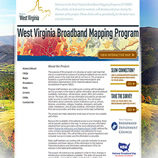 images of the WV Broadband mapping project website index page